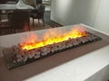 3D White Stone 3 dimensional fireplace