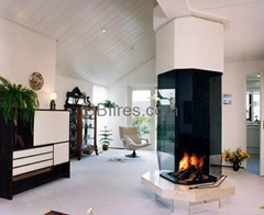 Glass bio-ethanol fireplaces