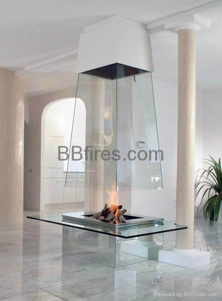玻璃酒精壁炉