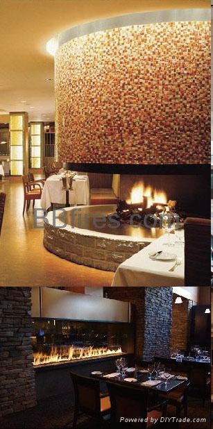 BB bio-ethanol intelligent low heat fireplaces in Star Hotel