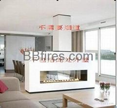 Intelligent low heat real fire fireplace