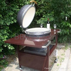 Outdoor moveable Ceramic BBQ Grill