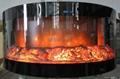 弧形电子壁炉--360°观火壁炉