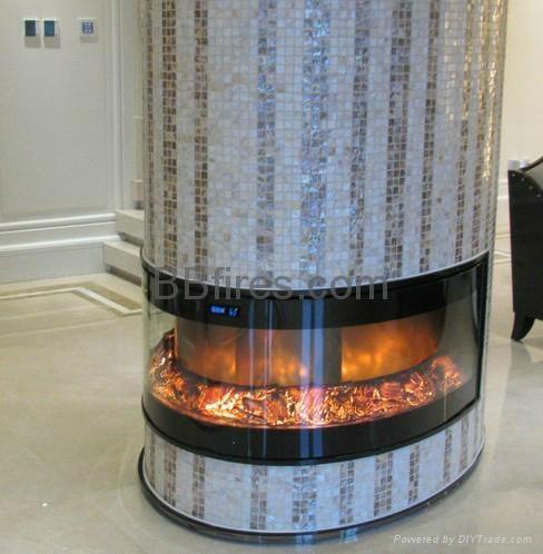信和大嶼山長沙電子壁爐--兩面觀火案例 9