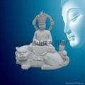 佛像石雕地藏坐狮