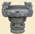 Antique temple incense burner