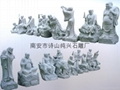 Eighteen people carved stone Buddha Crafts