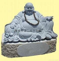 佛像雕刻之彌勒佛精品石雕