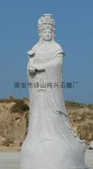Supply of bluestone stone Buddha statues fine Gods Samsung