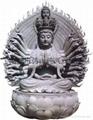 Stone Guanyin Guanyin Buddha lotus