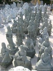 寺廟雕像三十三觀音聖觀音滴水觀音蓮花菩薩
