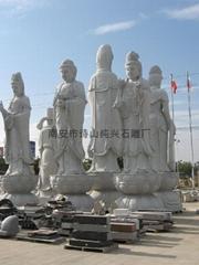 寺廟石雕雕塑五子封囤觀音