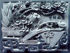Bo Gu bluestone stone temple relief vase