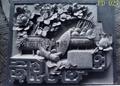 Bo Gu relief sculpture vase decorated