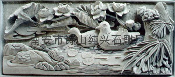 Landscape mural relief sculpture bird sd