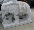 Animal sculpture granite stone elephant ornament