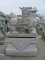 Evil mythical beasts and a variety of shapes stone auspicious brave