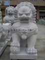 Granite lion of the town government Lions Gate Lions Beijing