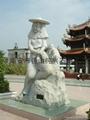 Granite stone sculpture of modern art