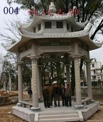 Antique Decorative granite sculpture garden pavilion