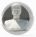 石雕人物肖像鲁迅半身像雕塑 2