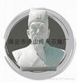 石雕人物肖像鲁迅半身像雕塑 5