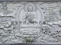 Buddha carved stone temple murals