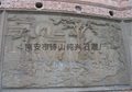 Buddhist temples relief mural
