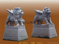 Flying stone lion carved bluestone