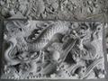 Bluestone stone block stone single dragon relief