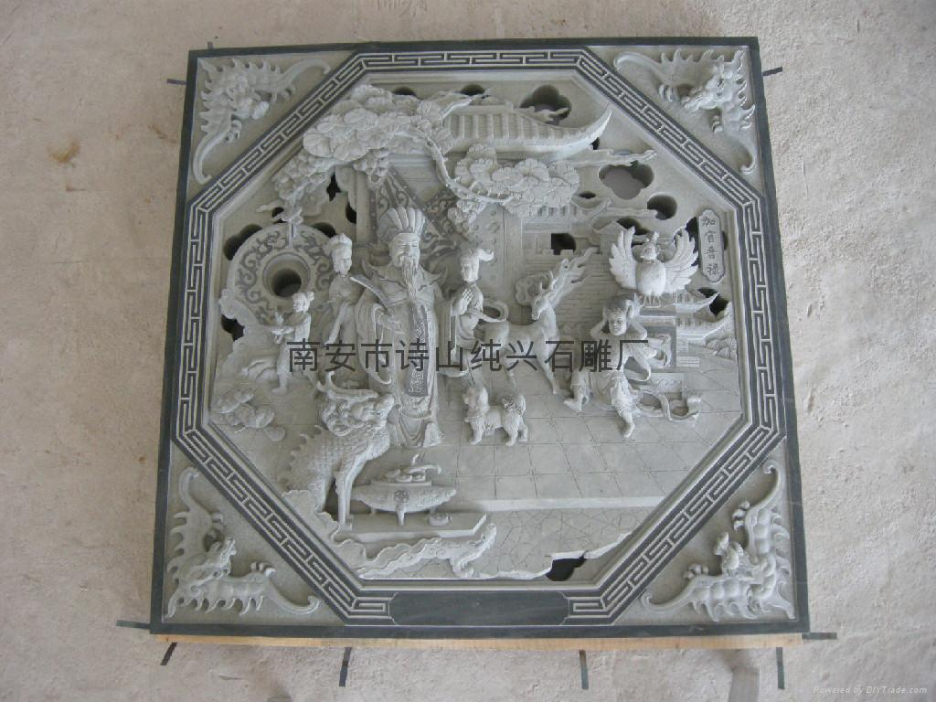 Relief supplies decorative stone temple figures sd