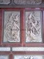 Decorative granite stone temple relief