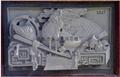 Granite stone temple relief mural decoration