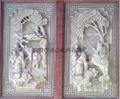 Bluestone stone temple depth of relief decoration figure