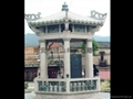 Granite carving stone pavilion
