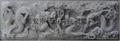 Bluestone stone relief block Dragons