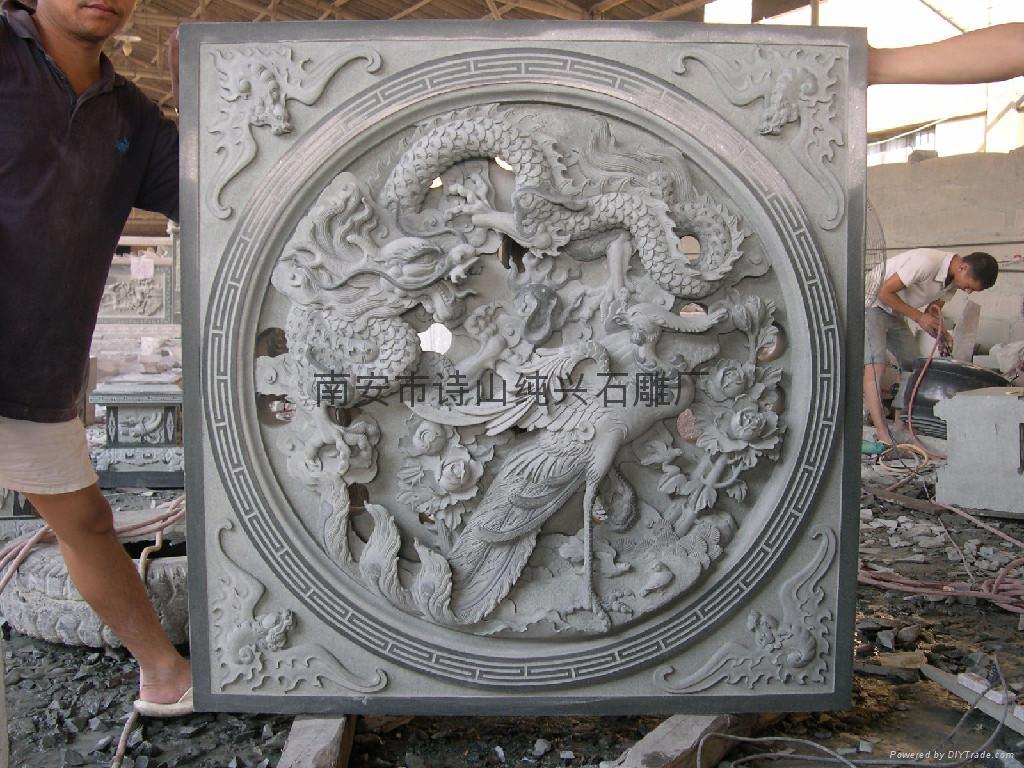 Bluestone stone decorative relief sculpture sd