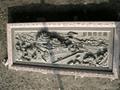 Bluestone stone temple sculpture