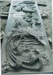 青石石雕寺廟浮雕壁畫