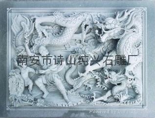 青石石雕寺廟浮雕壁畫 4