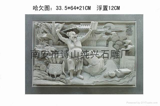寺廟石雕人物浮雕雕刻 3