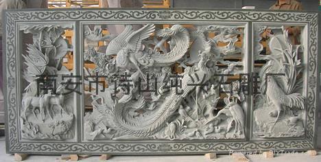 寺廟石雕人物浮雕雕刻 5