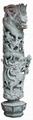 Bluestone stone columns carved dragons