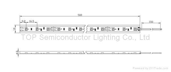 贴片5050半套管 防水软性灯带 2