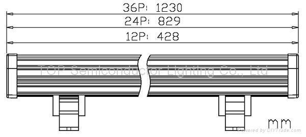 大功率LED条形全彩洗墙灯12W  3