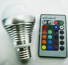 LED RGB High Power bulb E27 3W