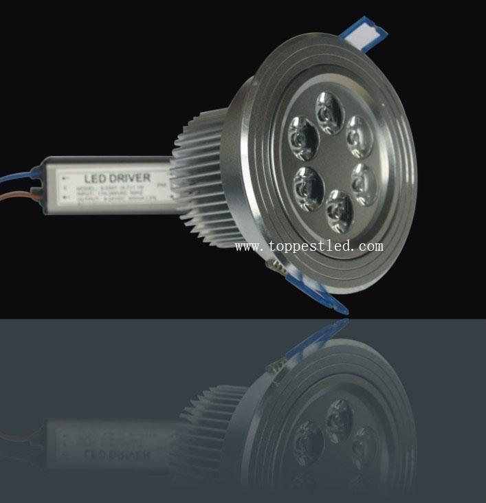 6*1W LED 天花燈 1