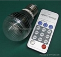 Dimmable LED clear bulb 3x1W