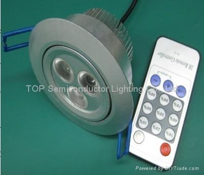 3*1W 可调光LED 天花灯 1