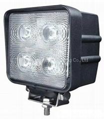 "4.3"" 40W CREE LED 工作灯泛光灯驾驶灯雾灯检修灯汽车灯沙滩灯越野灯"